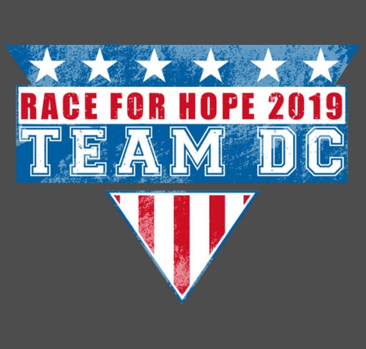 David Cook's Team for a Cure Shirt - Race for Hope 2019 shirt design - zoomed
