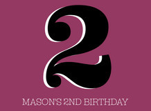Mason's 2nd Birthday