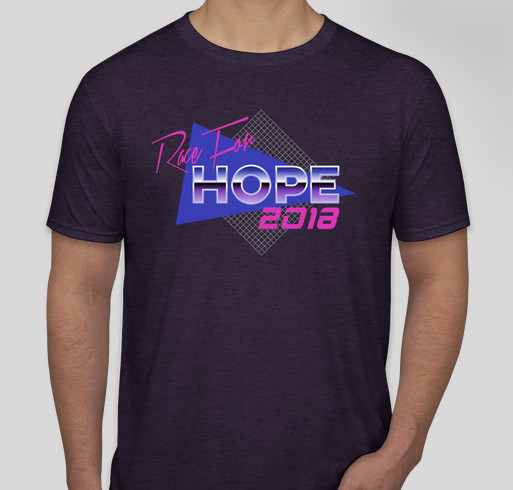 David Cook's Team for a Cure Shirt - Race for Hope 2018 Fundraiser - unisex shirt design - front