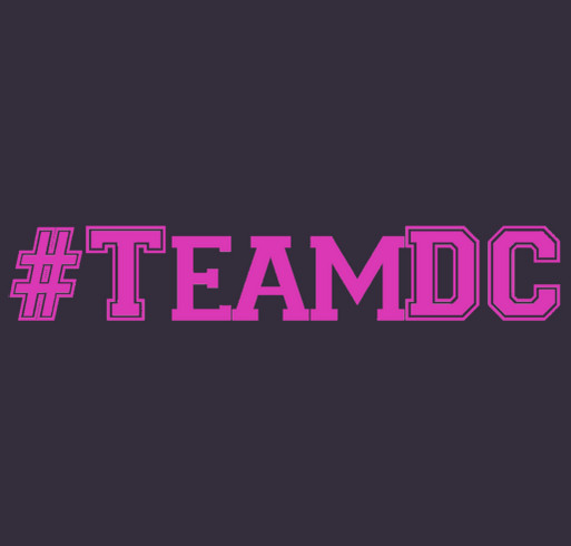 David Cook's Team for a Cure Shirt - Race for Hope 2018 shirt design - zoomed