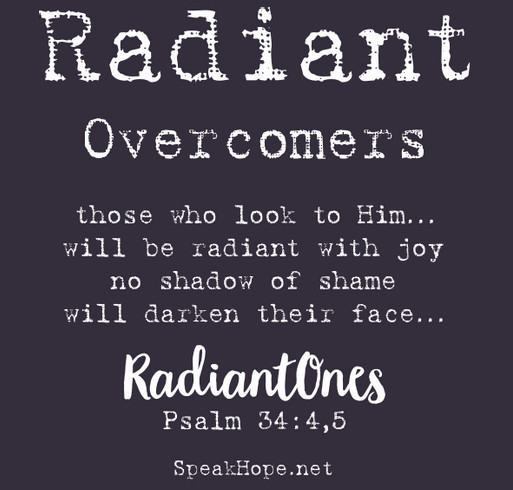 SpeakHope Radiant Overcomers shirt design - zoomed