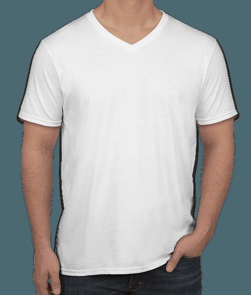 Custom Printed Gildan Women/'s Softstyle V Neck Cotton T-Shirt Personalised