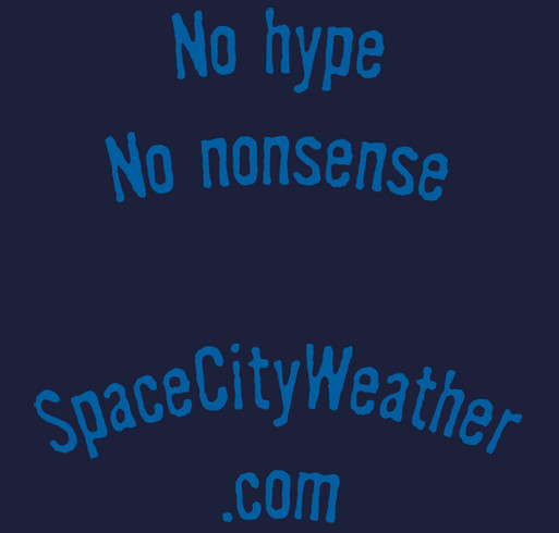 Space City Weather t-shirt drive shirt design - zoomed