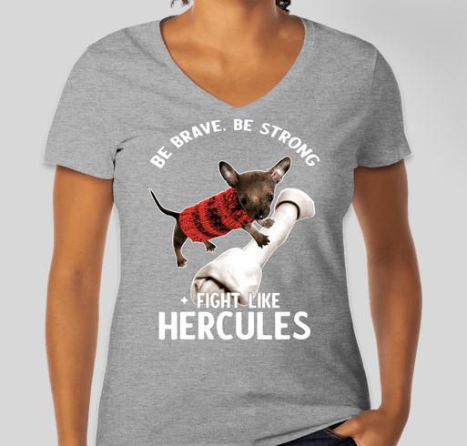 Hercules is our Hero! Fundraiser - unisex shirt design - front