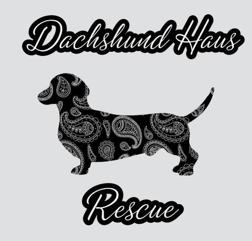 PAISLEY DACHSHUND TEE shirt design - zoomed
