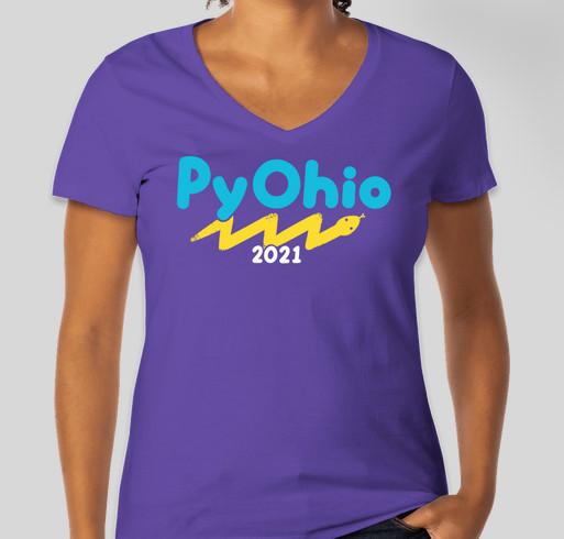 PyOhio 2021 Fundraiser - unisex shirt design - front