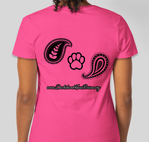 PAISLEY DACHSHUND TEE Fundraiser - unisex shirt design - back