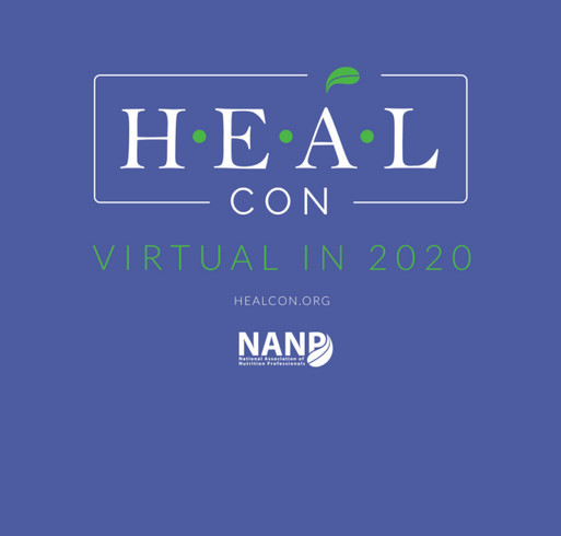 HEALCon Virtual in 2020 shirt design - zoomed