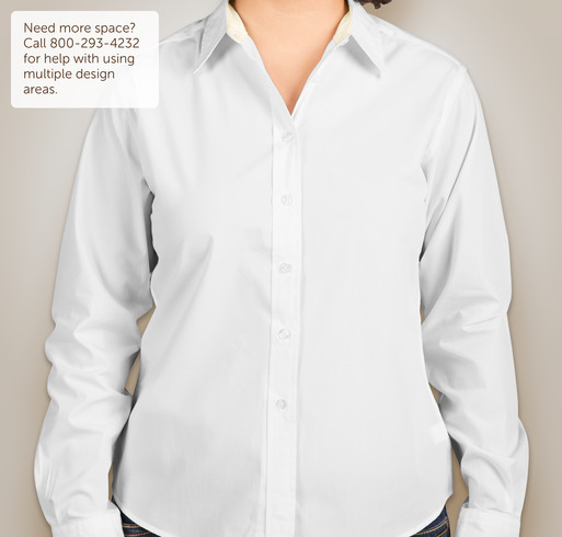 Port Authority Ladies Long Sleeve Easy Care Shirt - White / Light Stone