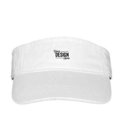 Valucap Bio-Washed Visor - White