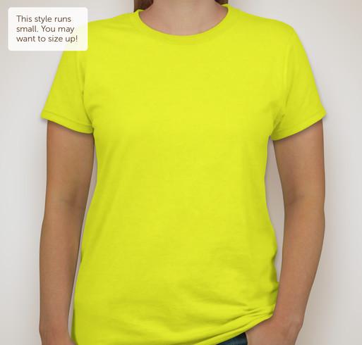 District Juniors Neon T-shirt - Neon Yellow