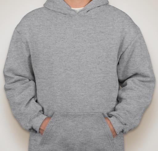 Bayside Heavyweight USA Hooded Sweatshirt - White