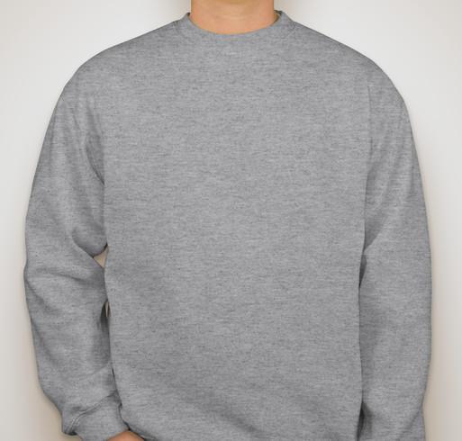 Bayside Heavyweight USA Crewneck Sweatshirt - White