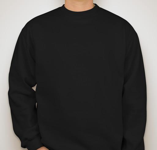 Bayside Heavyweight USA Crewneck Sweatshirt - Black