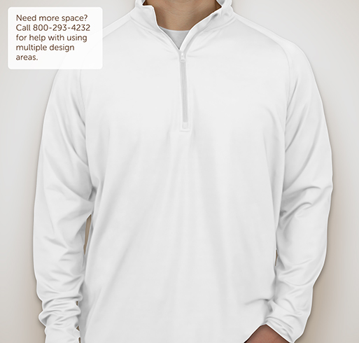 Sport-Tek Performance Half-Zip Pullover - White