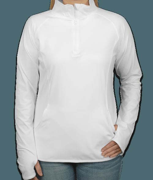 Sport-Tek Women's Performance Half Zip Pullover - White