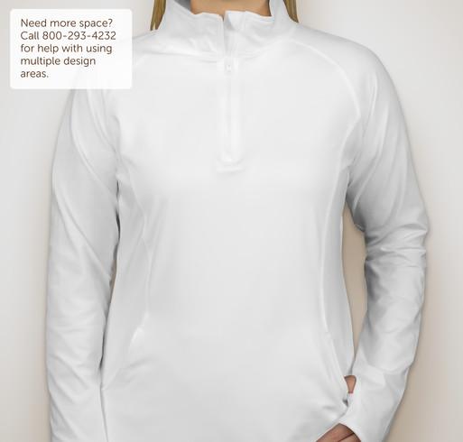 Sport-Tek Ladies Performance Half-Zip Pullover - White