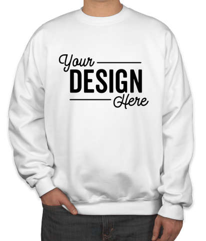 Hanes Ultimate Heavyweight Crewneck Sweatshirt - White