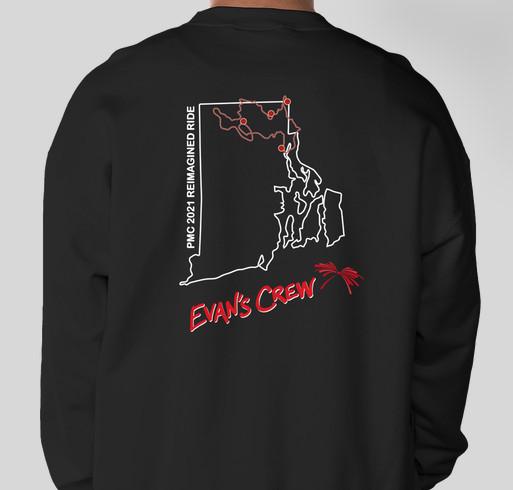DIPG Research: Evan's Crew Fundraiser Fundraiser - unisex shirt design - back