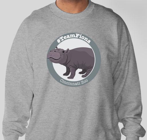 Cincinnati Zoo & Botanical Garden - #TeamFiona Shirts Fundraiser - unisex shirt design - front