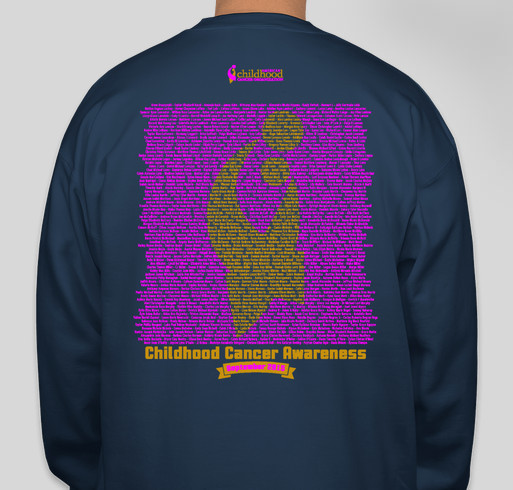 2015 ACCO Go Gold Shirt 2 Fundraiser - unisex shirt design - back