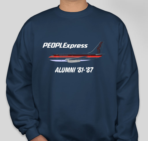 People Express Airlines Alumni Reunion Fundraiser - unisex shirt design - front