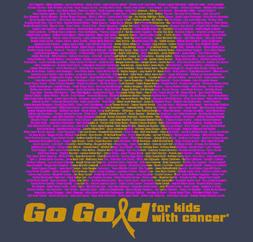 2015 ACCO Go Gold Shirt 1 shirt design - zoomed