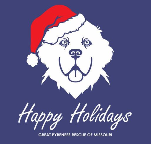 Happy Holidays shirt design - zoomed