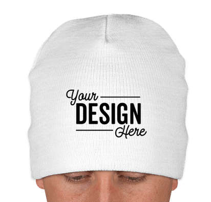 Yupoong Solid Beanie - White
