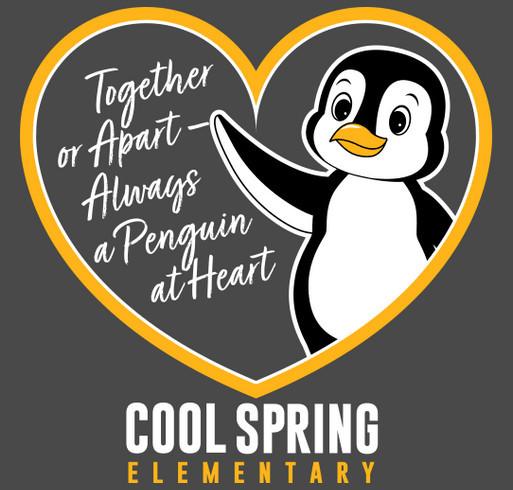 Together or Apart, Always a Penguin at Heart shirt design - zoomed