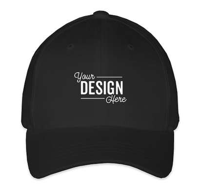 Yupoong Youth Twill Flexfit Hat - Black