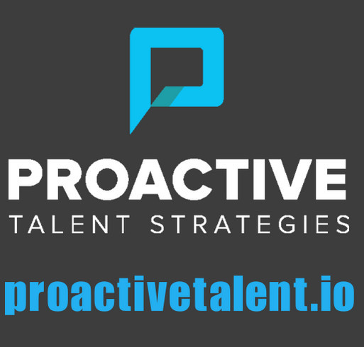 Proactive Talent T-shirt & Fundraiser shirt design - zoomed