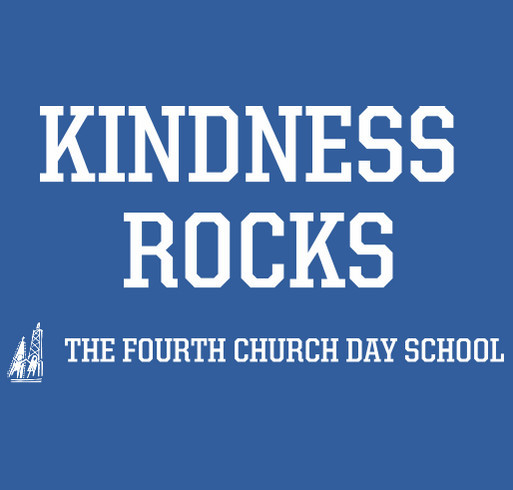Kindness Rocks - The Fourth Church Day School (ADULTS AND KID SIZES) shirt design - zoomed