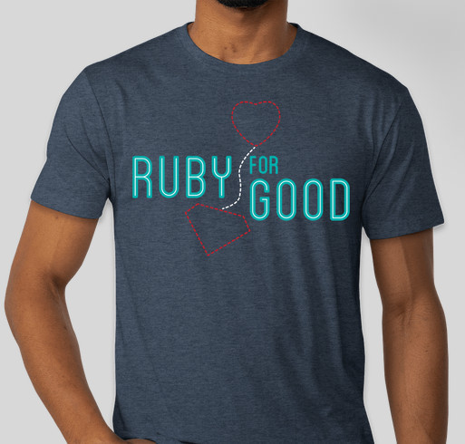 Ruby For Good Fundraiser - unisex shirt design - front
