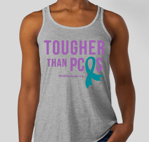 PCOS STRONG Fundraiser - unisex shirt design - front
