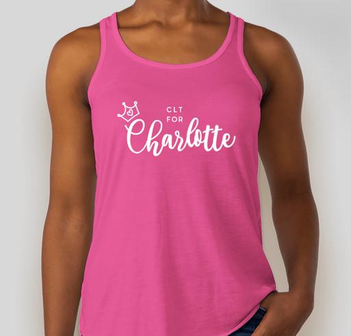CLT for Charlotte Fundraiser - unisex shirt design - front