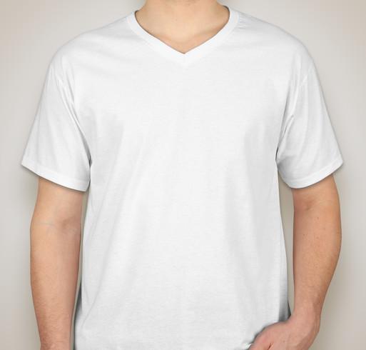 Fruit of the Loom 100% Cotton V-Neck T-shirt - White