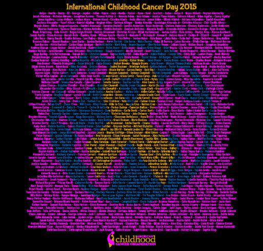 ACCO - International Childhood Cancer Day - 2015 shirt design - zoomed