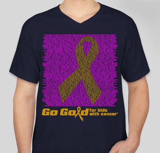 2015 ACCO Go Gold Shirt 2 Fundraiser - unisex shirt design - front