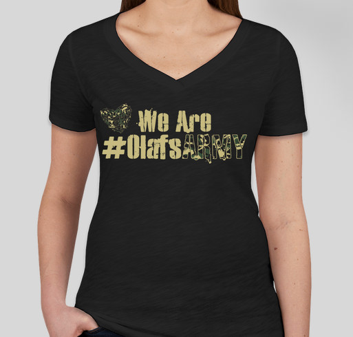 We Are Olaf's Army Fundraiser - unisex shirt design - front