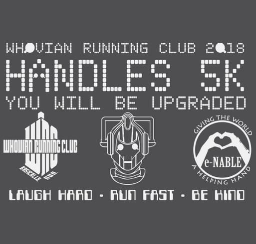 Handles 5K shirt design - zoomed