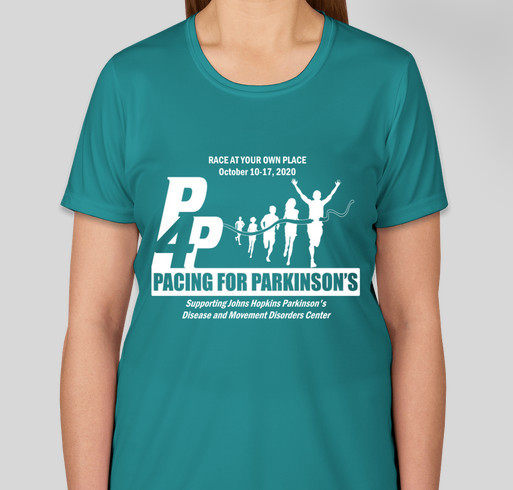 Pacing for Parkinson's 2020 T-Shirt Fundraiser - unisex shirt design - front