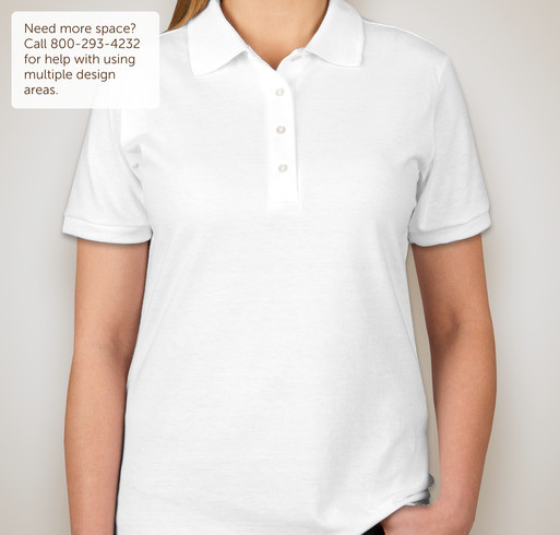 Jerzees Ladies Spotshield 50/50 Jersey Polo - White
