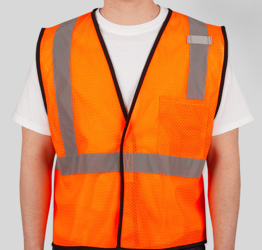 Hi-Visibility Vests to Benefit Professional Society of Drone Journalists Fundraiser - unisex shirt design - front