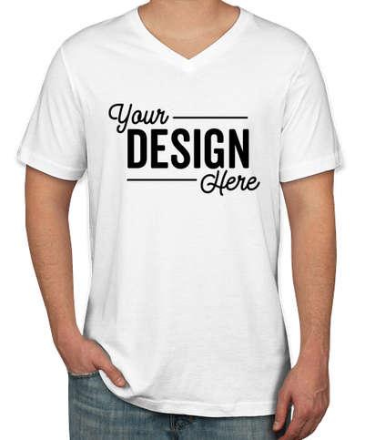 Canada - Bella + Canvas Jersey V-Neck T-shirt - White
