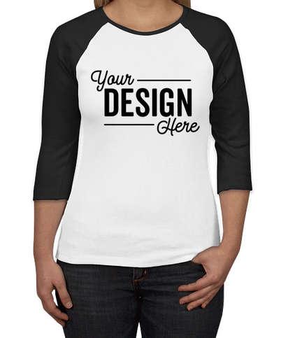 Canada - Bella + Canvas Women's Slim Fit Raglan T-shirt - White / Black