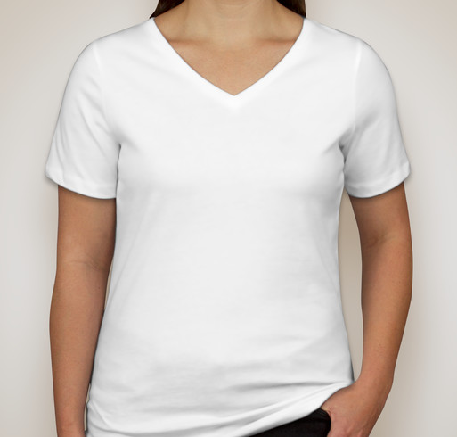 Canada - Bella Ladies V-Neck T-shirt - White