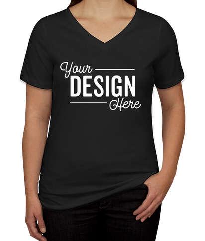 Canada - Bella + Canvas Women's V-Neck T-shirt - Black