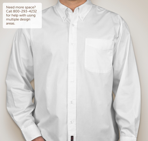 Port Authority Stain Resistant Long Sleeve Shirt - White