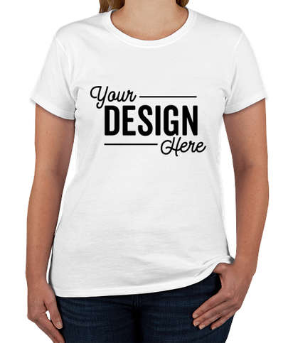 Gildan Women's 100% Cotton T-shirt - White